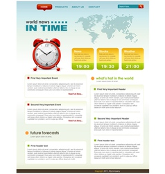web page infographic template vector image