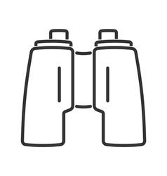 Binoculars line icon vector image vector image