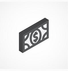 money isometric icon 3d vector image