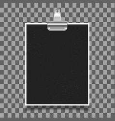 photo frame with old binder clip vector image