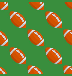 seamless pattern with rugby ball vector image