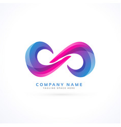 vibrant creative infinity logo vector image vector image