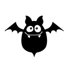 Cartoon Style Smiling Bat on White Background vector image vector image