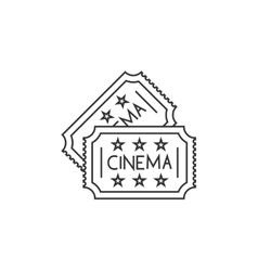 Cinema ticket line icon vector image