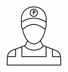Parking attendant icon outline style vector image vector image
