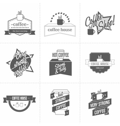Set of different coffee shop logo templates vector image vector image