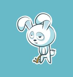 Sticker emoji emoticon emotion pee with laid-back vector