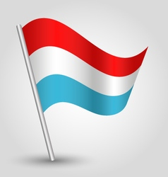 waving simple triangle luxembourger flag vector image vector image