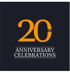 20 years anniversary celebrations template design vector