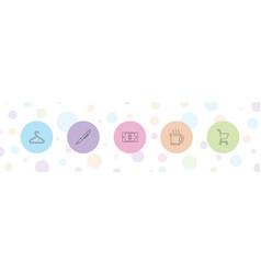 5 shop icons vector