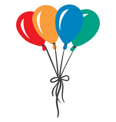 A bunch colorful balloons on white background vector