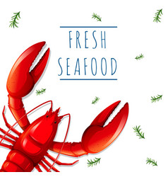 a fresh seafood template vector image