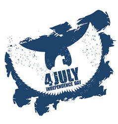 American Independence Day Eagle in grunge style vector
