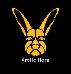 Arctic Hare Icon vector image