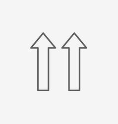 Arrow flat icon vector