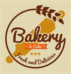Bakery and cake fresh and delicious vector