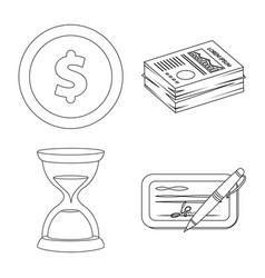 bank and money symbol set vector image