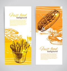 Banners of fast food design vector image vector image