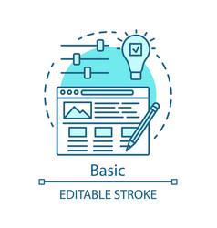 Basic concept icon vector
