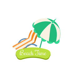 beach time summer vacation vector image