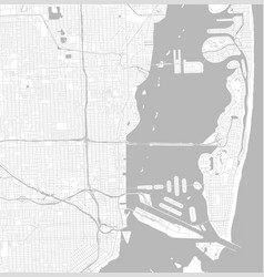 Black and white city map miami with well vector