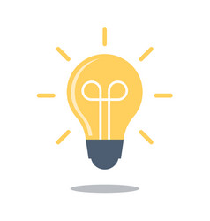 bulb icon flat design lightbulb symbol isolated vector image