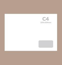 c4 envelope mockup realistic style vector image