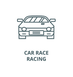 car raceracing line icon car raceracing vector image