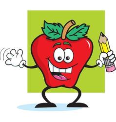 Cartoon Apple Student vector image