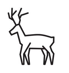 christmas reindeer simple icon vector image