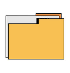 Color image documents folder with sheet vector