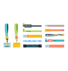 control bracelets plastic template set silicone vector image