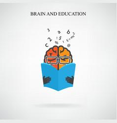 creative brain sign vector image