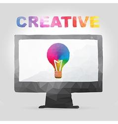 creative concept in polygon design vector image