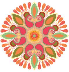Diwali rangoli beautiful isolated on vector