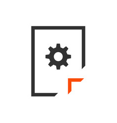 document management icon information file with vector image