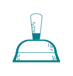 Dotted shape dustpan domestic equipment to clean vector