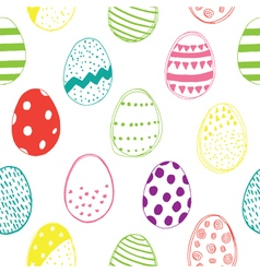 easter pattern color vector image
