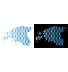 Estonia map hex-tile scheme vector