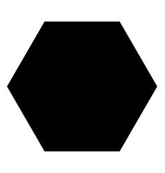 Filled hexagon icon vector