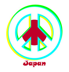 Flag of japan as a sign of pacifism vector