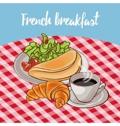 French Breakfast Poster vector image
