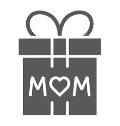 gift for mom glyph icon present and holiday mom vector image