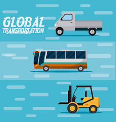 Global transportation concept vector