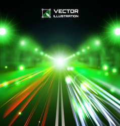 green tint night road vector image