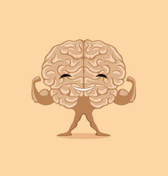 Happy strong brain vector