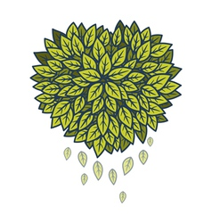 Heart of leaves vector