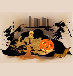 Holiday of halloween vector