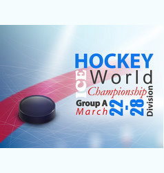 ice hockey world championship banner vector image