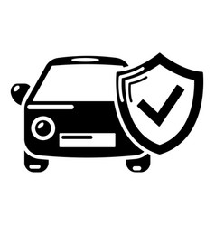 insurance car icon simple black style vector image